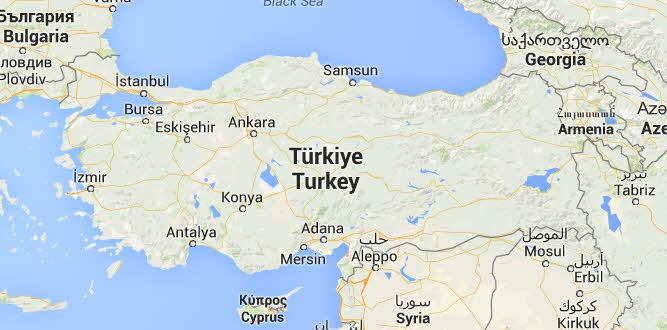 Kart over Tyrkia